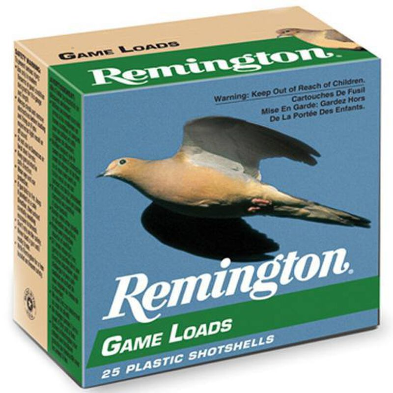 "Remington Game Loads 20 Gauge Ammunition 25 Rounds 2.75"" #8 Lead 7/8 Ounce 20044"