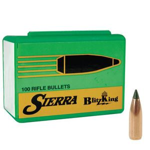 "Sierra .22 Caliber .224"" Diameter 40 Grain BlitzKing Polymer Tip Moly Coated Boat Tail Bullets 500 Count 1440M"