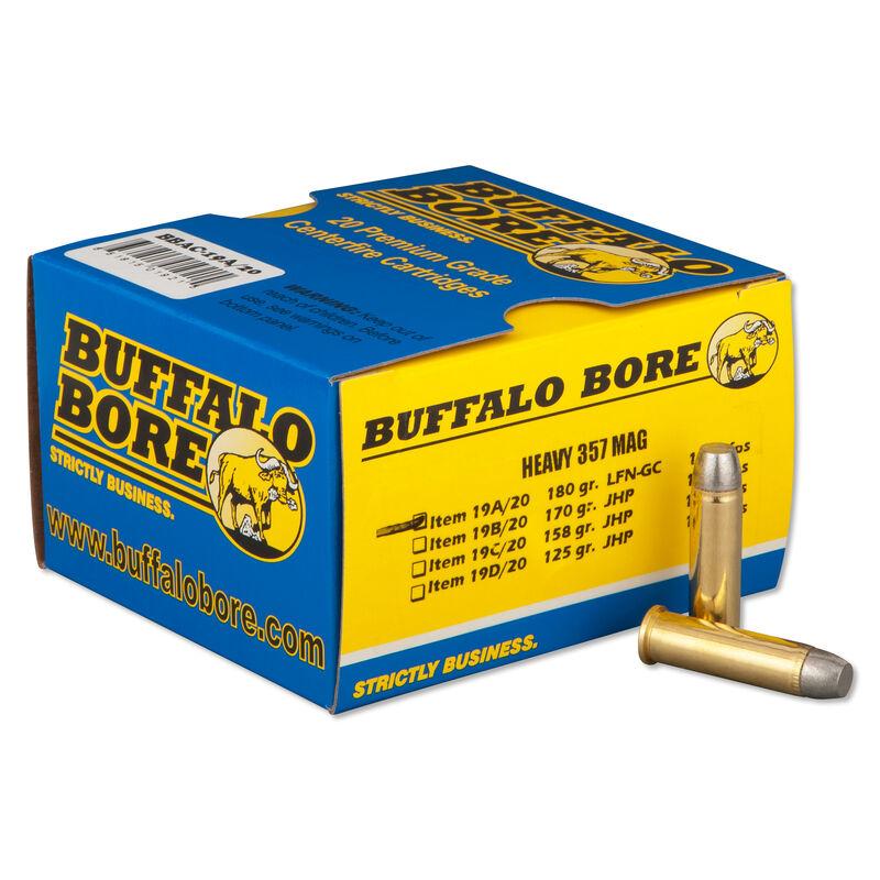 Buffalo Bore .357 Magnum Ammunition 20 Rounds LFN GC 180 Grains 19A/20