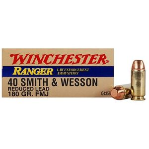 Winchester Ranger Reduced Lead .40 S&W FMJ 180 Grain 50 Rounds Q4356Y
