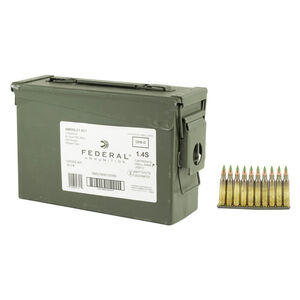 Federal 5.56 NATO Ammunition 420 Rounds XM855 FMJ 62 Grains On Stripper Clips In Ammo Can XM855LC1AC1