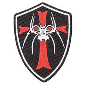 Spikes Tactical Spider Crusader Patch Spikes Logo with Crusader Cross Velcro Attachment Black/White/Red