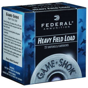 "Federal Game Shok Upland Heavy Field Load 20 Gauge Ammunition 2-3/4"" #6 Lead Shot 1 Ounce 1165 fps"