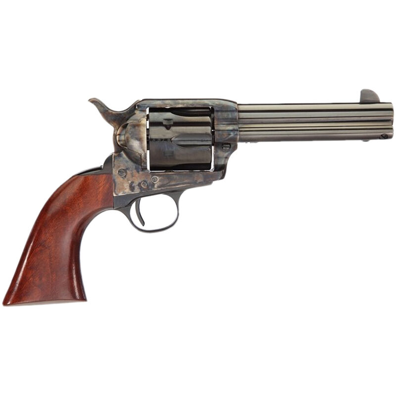 """Taylor's & Co The Gunfighter .357 Mag Single Action Revolver 4.75"""" Blued Barrel 6 Rounds Walnut Grips Case Hardened Finish"""