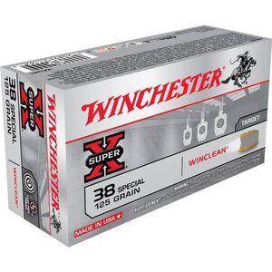 Winchester .38 SPL 125 Grain JSP 50 Round Box 775 fps