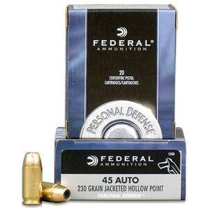 Federal PD .45 ACP 230 Grain JHP 20 Round Box