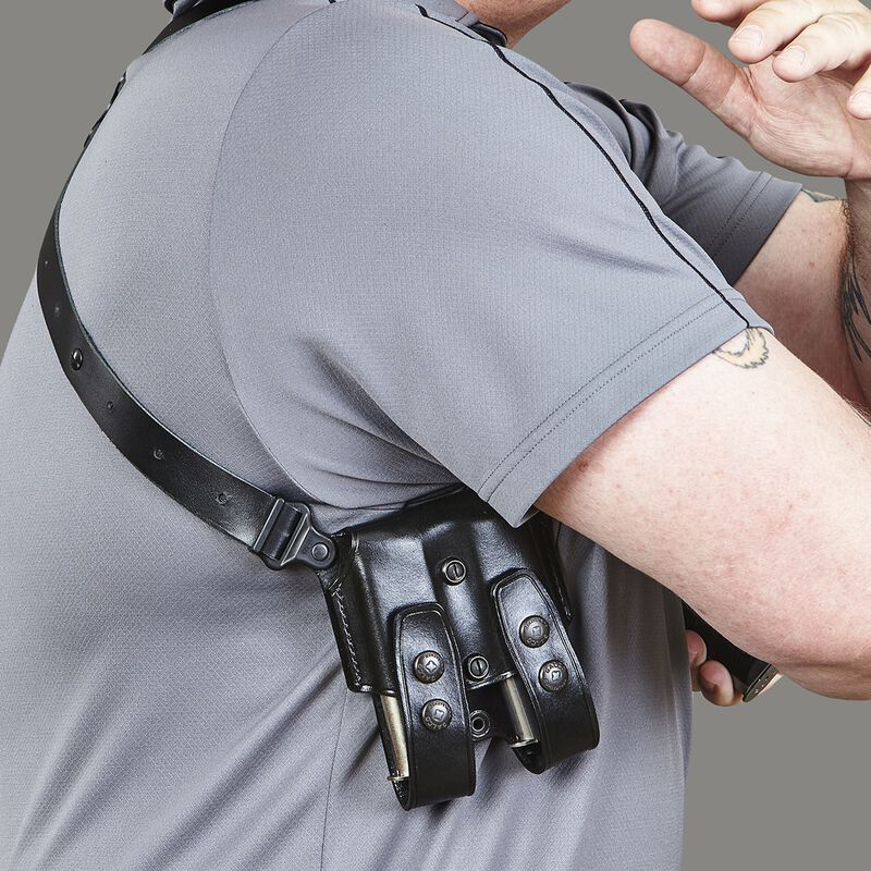 Galco Miami Classic II SIG Sauer P320 Full Sized 9/40 Shoulder Holster System Right Hand Leather Black