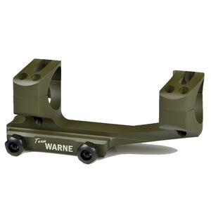 """Warne Scope Mounts SKEL One Piece AR-15 Skeletonized Scope Mount 1"""" Tube Diameter Lightweight 6061 Aluminum Matte OD Green XSKEL1OD"""
