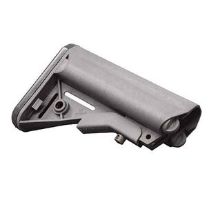 B5 Enhanced SOPMOD Stock with Battery Compartment, Quick Detach Mount, Mil-Spec Diameter, Wolf Gray
