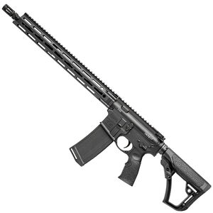 "Daniel Defense DDM4v7 AR-15 Semi Automatic Rifle 5.56 NATO 16"" Barrel 32 Rounds DD MFR 15"" Free Float M-LOK Hand Guard Collapsible Stock Matte Black"
