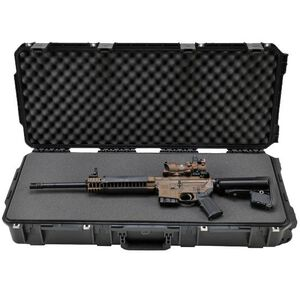 "SKB Sports iSeries 3614 M4 Short Single Rifle Hard Case 36.5"" Waterproof with Padlock Holes Polymer Black 3I-3614-6B-L"