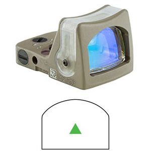 Trijicon RMR Dual Illum 12.9 MOA Green Triangle CK FDE