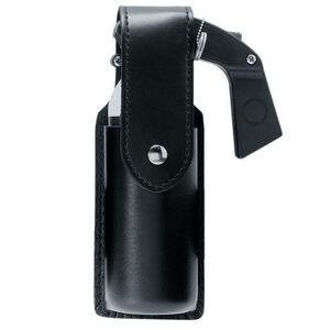 Safariland Model 38 OC Spray Holder Top Flap SafariLaminate Hidden Snap Closure  Plain Synthetic Leather Black 38-4-22HS