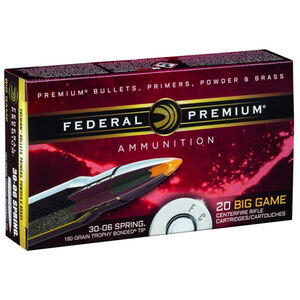 Federal .30-06 Springfield Ammunition 20 Rounds Bonded Tip 180 Grains