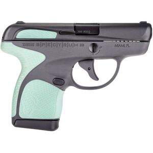 "Taurus Spectrum .380 ACP Semi Auto Pistol 2.8"" Barrel 6 Rounds Grey Polymer Frame with Mint Inserts Black Finish"