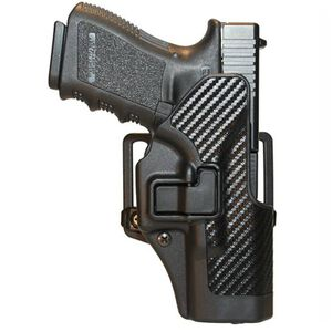 BLACKHAWK! SERPA CQC Belt/Paddle Holster For GLOCK 19/23/32/36 Left Hand Black/Carbon Fiber 410002BK-L