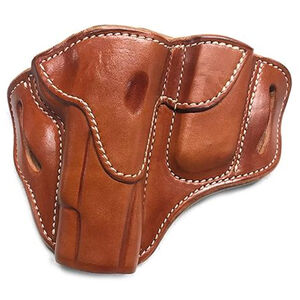 """1791 Gunleather Open Top BH1M1 Multi-Fit OWB Holster With Built in Magazine Pouch for 5"""" 1911 Semi Auto Models Right Hand Draw Leather Classic Brown"""