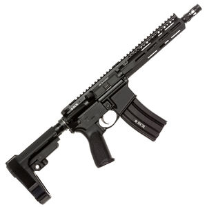 "BCM Recce-9 MCMR AR-15 .300 AAC Blackout Semi Auto Pistol 9"" Barrel 30 Round Magazine MCMR-8 Free Float Hand Guard SBA3 Pistol Stabilizing Brace Matte Black"