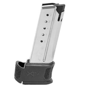 Springfield Armory XD-S Mod 2 Magazine 6 Round .45 ACP X-Tension Grip Sleeve Stainless Steel Natural Finish