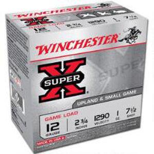 "Winchester Super X 12 Gauge Ammunition 250 Rounds 2.75"" #7.5 Lead XU127"