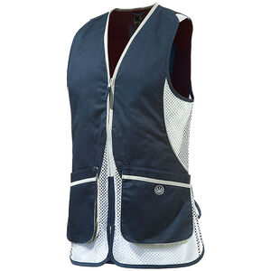 Beretta USA Women's Silver Pigeon Shooting Vest Cotton and Mesh Panels Easy-Glide Shooting Patches Large Lavender