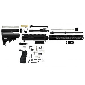 "TacFire AR-15 Rifle Kit 5.56 NATO 16"" Barrel KeyMod Handguard 6 Postion Stock Black RK556-LPK"