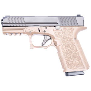 """Polymer 80 PFC9 9mm Luger Compact Semi Automatic Pistol 4.02"""" Barrel 15 Rounds Steel Sights Polymer Frame Black and Flat Dark Earth"""