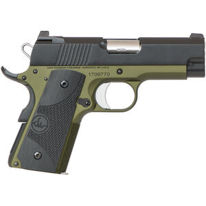 "Dan Wesson ECO 1911 Officer .45 ACP Semi Auto Pistol 3.5"" Barrel 7 Rounds Night Sights G10 Grips Black"