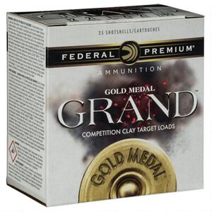 "Federal Gold Medal Grand Paper 12 Gauge Ammunition 25 Rounds 2-3/4"" #8 Size 1-1/8oz Lead Shot 1145fps"