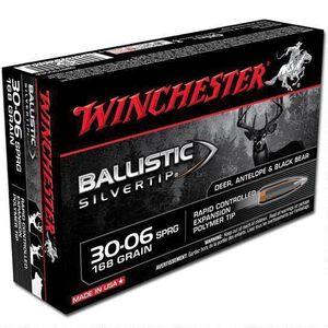 Winchester Silvertip .30-06 Springfield Ammunition 200 Rounds BST 168 Grains SBST3006A