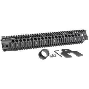 "Midwest Industries AR-15 Combat Rail T-Series 15"" One Piece Free Float Hand Guard 6061 Aluminum Hard Coat Anodized Matte Black Finish"