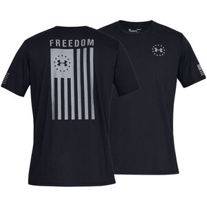 Under Armour Freedom Flag Men's Tactical T-Shirt, Black/Gray