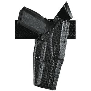 Safariland 6390 GLOCK with Tactical Light, ALS Duty Retention Holster, Mid-Ride, Left Hand, STX Basket Weave Black
