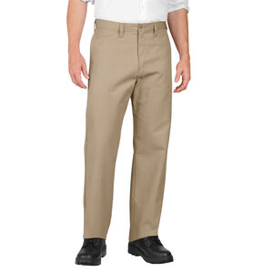 Dickies Men's Industrial Flat Front Pants Polyester / Cotton Waist 36 Length 34 Desert Sand LP812