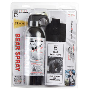 UDAP Pepper Power Super Magnum Bear Deterrent Fog Spray 13.4oz with Chest Holster 15HP