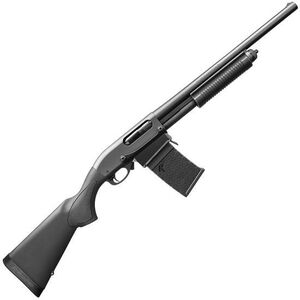 "Remington Model 870 DM Pump Action Shotgun 12 Gauge 6 Rounds 18.5"" Barrel 3"" Detachable Box Magazine Black Synthetic Stock Matte Blued Finish"
