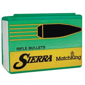 "Sierra MatchKing Bullet .22 Caliber .224"" Diameter 77 Grain Hollow Point Boat Tail Projectile Cannelured 50 Count"