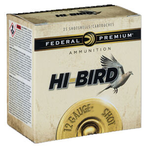 "Federal Premium Hi-Bird 12 Gauge Ammunition 250 Rounds 2-3/4"" #7.5 1-1/4oz Lead Shot 1330fps"