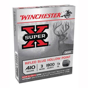 "Winchester Super-X .410 3"" Rifled Slug HP 1/4 oz 5 Rnd Box"