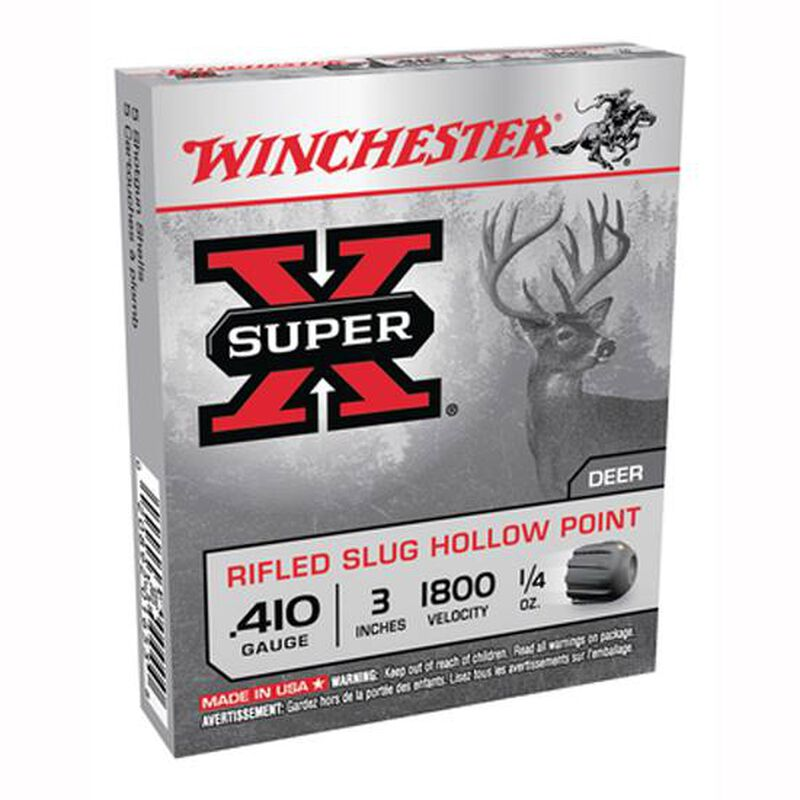 "Winchester Super-X .410 3"" Rifled Slug HP 1/4 oz 5 Rnd Box"