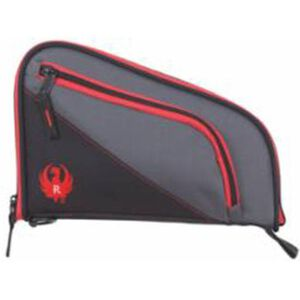"""Allen Company Ruger Tuscon 10"""" Soft Pistol Case Grey/Red 600D Nylon with Ruger Logo 27401"""