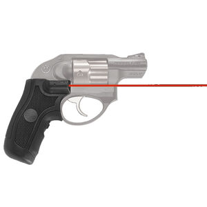 Crimson Trace LG-415 Red LaserGrip For Ruger LCR/LCRX Polymer/Rubber Construction Matte Black