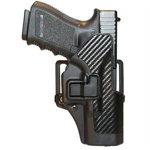 BLACKHAWK! SERPA CQC Glock 19, 23, 32, 36 Holster Left Hand Black Carbon Fiber Finish 410002BK-L
