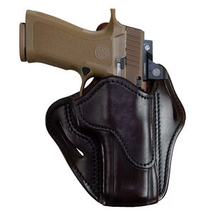 1791 Gunleather Optic Ready Open Top Multi-Fit 2.4 OWB Belt Holster for Full Size Large Frame Semi Auto Models Right Hand Draw Leather Signature Brown