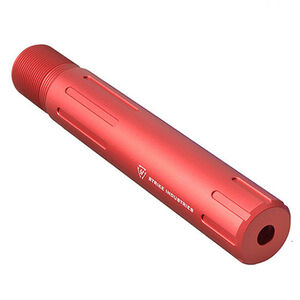 Strike Industries Carbine Length Pistol Receiver Extension QD Connection Aluminum Red SI-AR-CARPRE-SLICK-RED