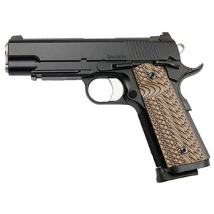"Dan Wesson Specialist Commander 1911 .45 ACP Semi Auto Pistol 4.25"" Barrel 8 Rounds Fixed Night Sights G10 Grips Duty Black Finish"