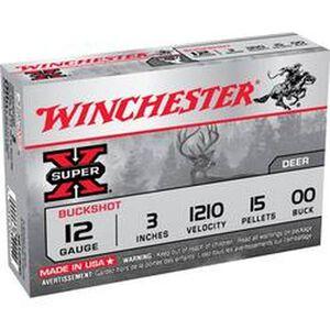 "Winchester Super-X 12 Gauge Ammunition 15 Rounds 3"" 00 Lead Buck Shot 15 Pellets XB12300VP"