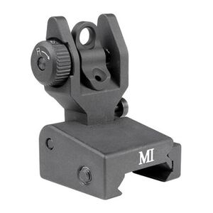 Midwest Industries SPLP Flip Up Rear Sight Aluminum Black MCTAR-SPLP