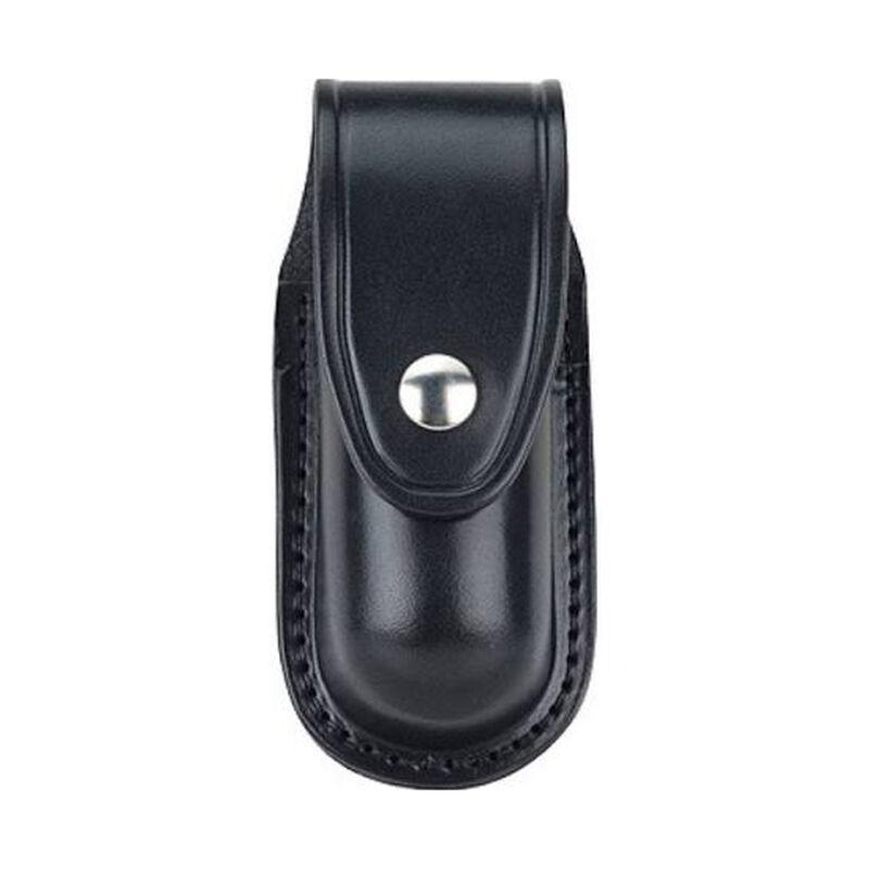 "Gould & Goodrich Aerosol Case MKIII MKVI 2.25"" Belt Chrome Snap Polymer Plain Black B681-3"
