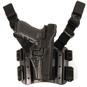 BLACKHAWK! SERPA Tactical Level 3 Holster SIG Sauer P220/P225/P226/P228/P229 Right Handed Black 430606BK-R